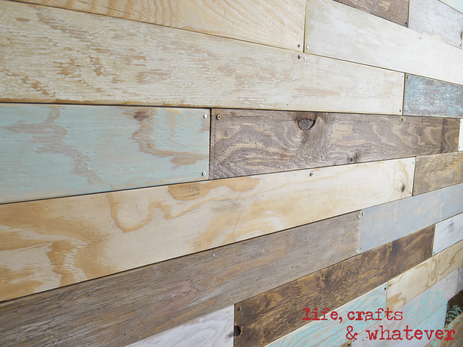 Wooden Plank Wall ~ Life crafts whatever my plank wall finally