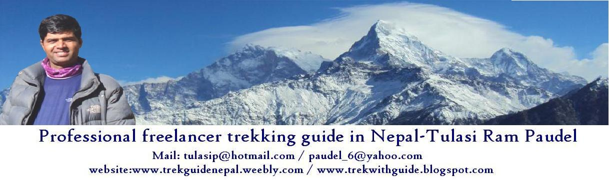 Trek guide in Nepal,  Trek with guide, Professional freelancer trek guide, trek guide from pokhara,