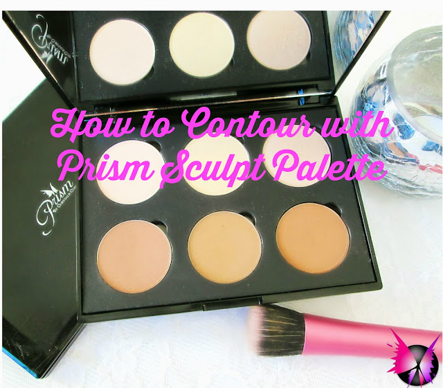 how to contour and highlight tutorial with the Prism Sculpt Palette
