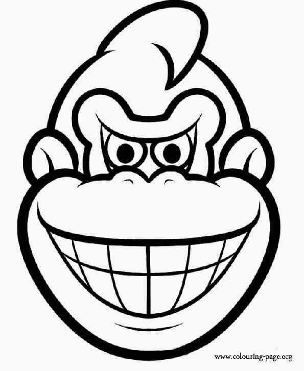 Diddy kong colouring pages for Donkey kong coloring pages free