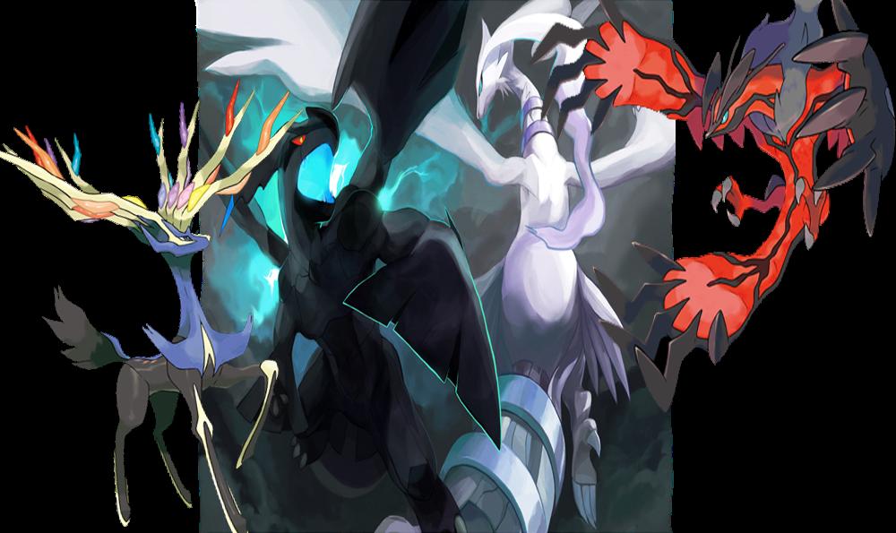 Pokemon VI Teasers Legendary Pokemon Black And White