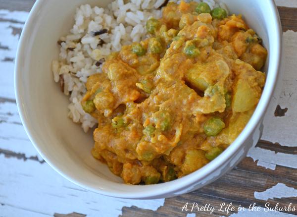 Potato, Yam & Chickpea Coconut Curry