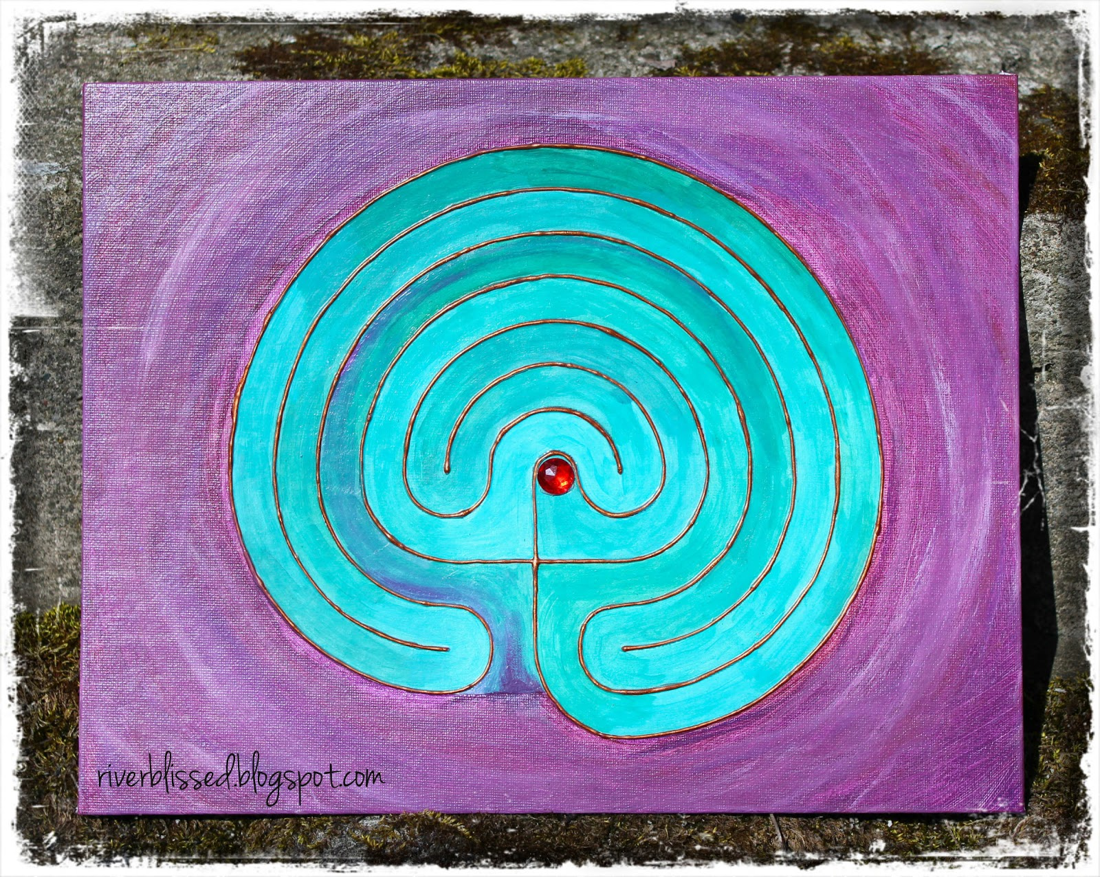 It is an image of Amazing Finger Labyrinth Printable