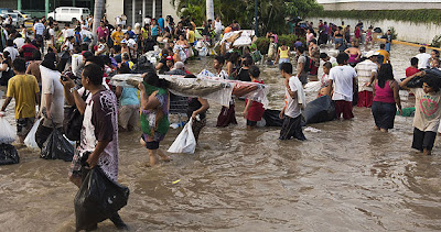 TORMENTAS INGRID U MANUEL DEJAN 80 MUERTOS EN MEXICO, 18 DE SEPTIEMBRE 2013