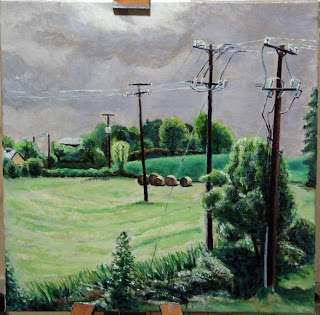 oil painting countryside landscape ireland Mayo