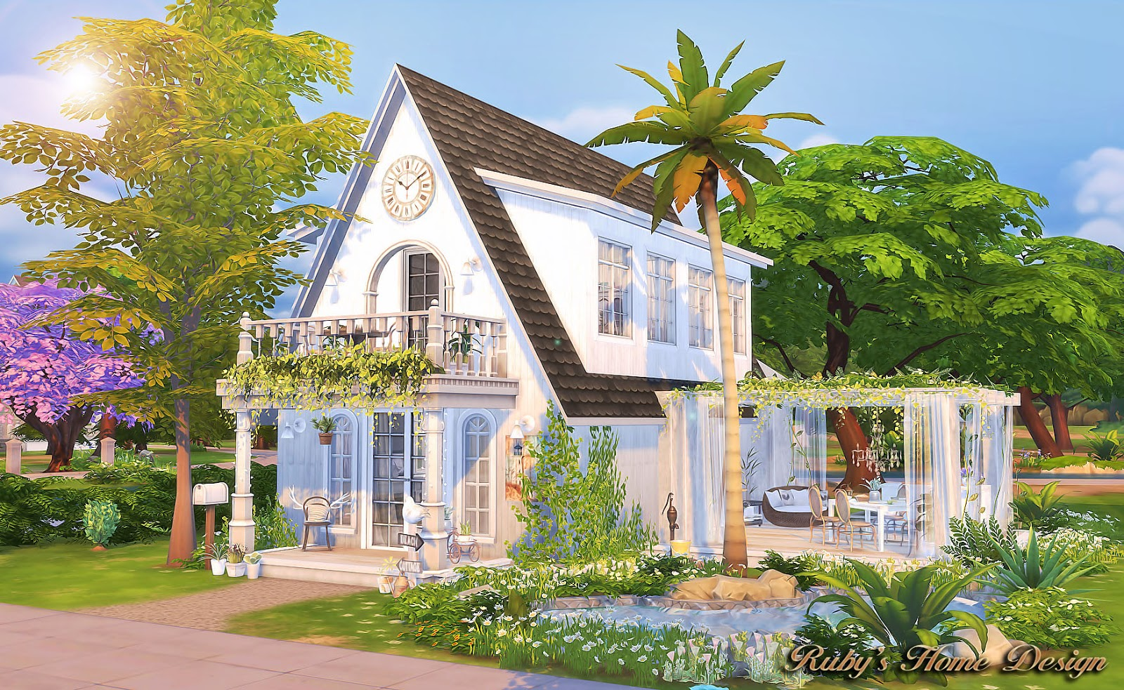 Sims4 White Jasmine No Download link Rubys Home Design