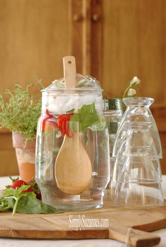 strawberry & basil water