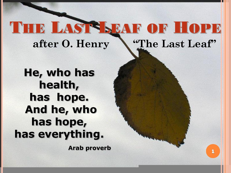 the last leaf essay