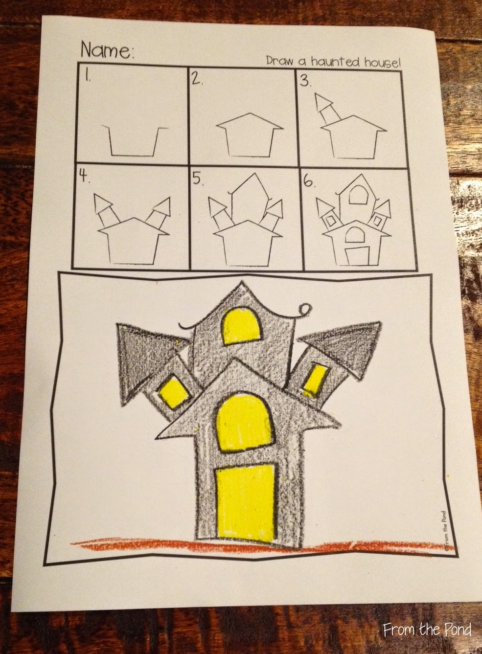 Blog hoppin 39 a few haunting ideas Haunted house drawing ideas