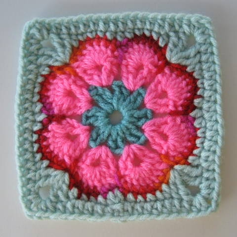 African Flower Written Crochet Pattern : Its All About The Color: African Flower Square: No More ...