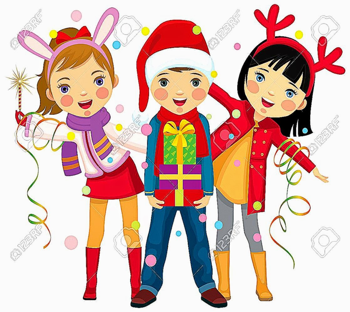 Kids Christmas Party Clipart | HD Wallpapers Plus