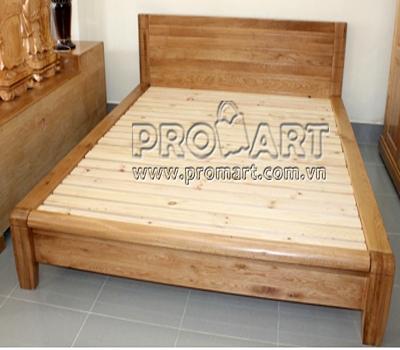 Giường đôi gỗ sồi Platform two 1.8x2m xuất khẩu Mỹ