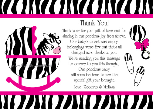 lynnetteart zebra baby shower invitation