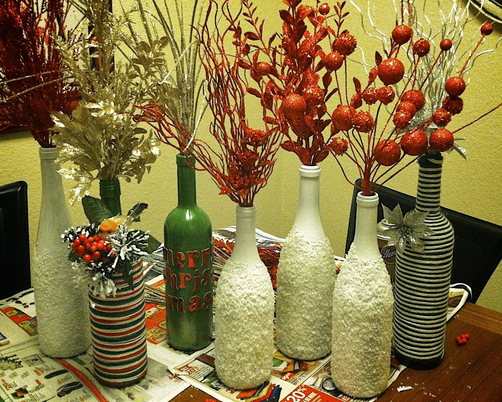Repurposed glass bottles into creative decorations for Images of decorative items made from waste material