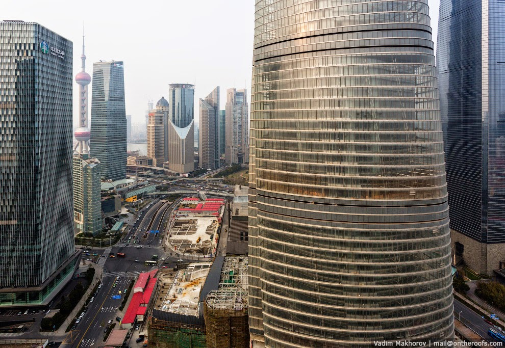 Шанхай с высоты птичьего полета