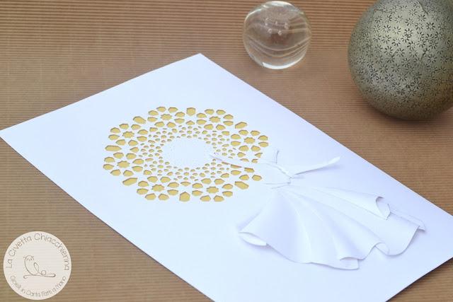 Illustrazione in papercut 3D della Civetta Chiacchierina: Dervisci rotante