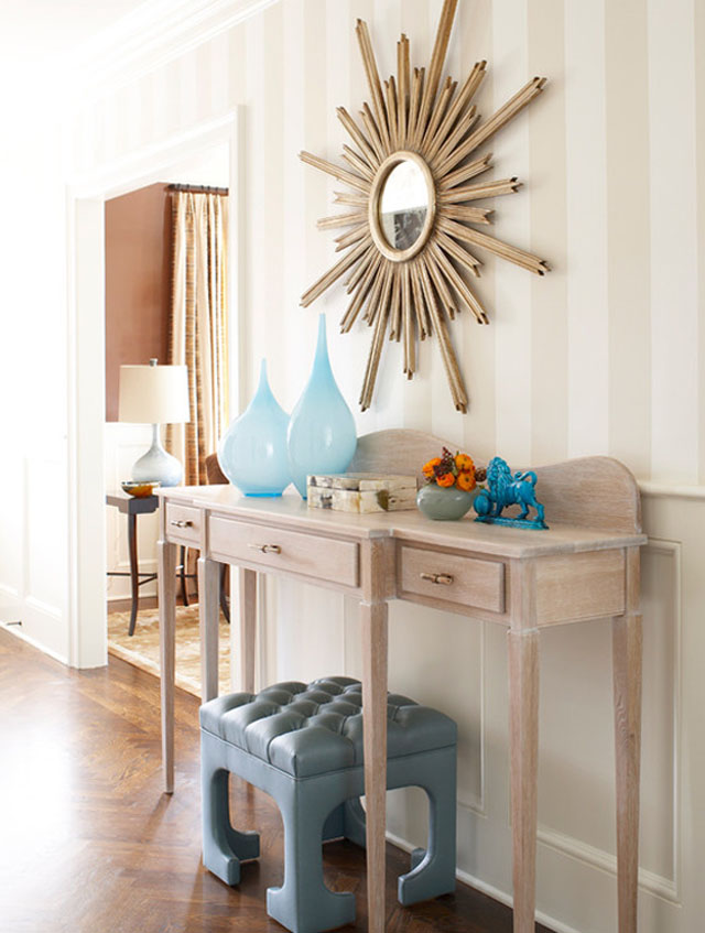 Console table styling decor inspiration love maegan for Entry wall table