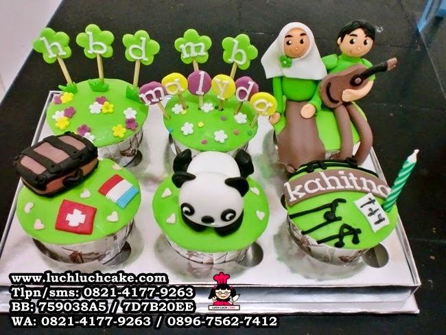 Cupcake Ulang Tahun Tema Hobi Daerah Surabaya - Sidoarjo