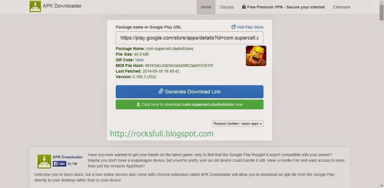 download link dan tunggu beberapa detik sampai download link keluar
