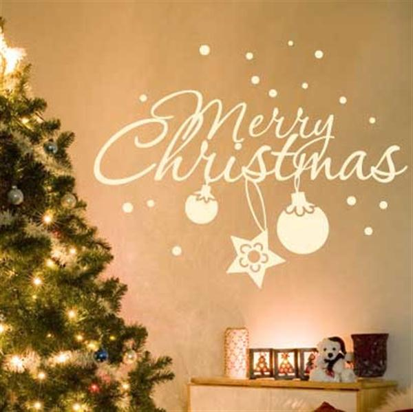 Wall Decorating For Christmas : Christmas tree wall sticker luxury lifestyle design