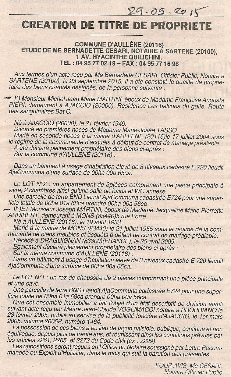Titre de propriete cadastre - Titre propriete maison ...