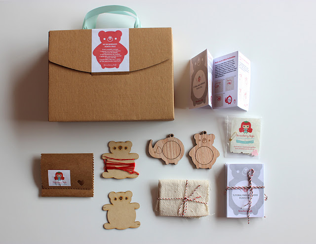Strawberry style tutorial mini bastidores con nuestro kit - Bastidores para bordar ...