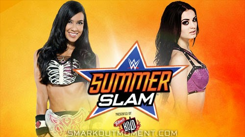 Divas Championship SummerSlam 2014 PPV Paige vs AJ Lee match