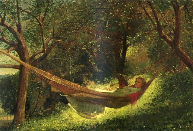 Winslow Homer девушка в гамаке