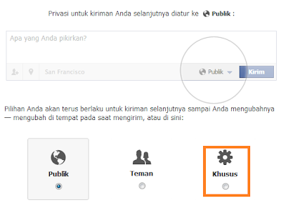 setting privacy facebook