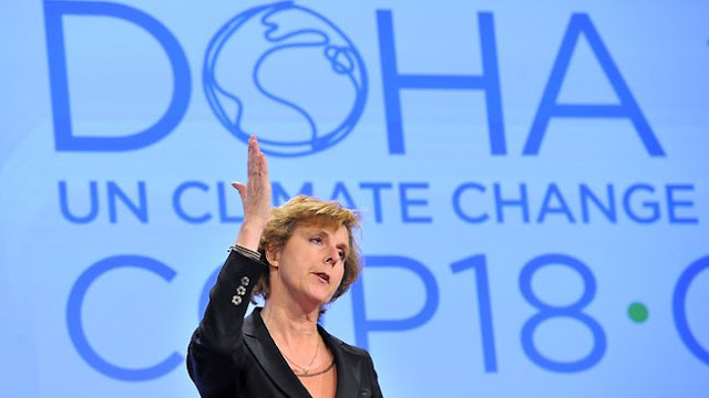 La commissaria europea per il Clima, Connie Hedegaard
