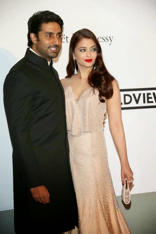 Aishwarya Rai and Abhishek Bachchan Latest Photos in Cannes 2014