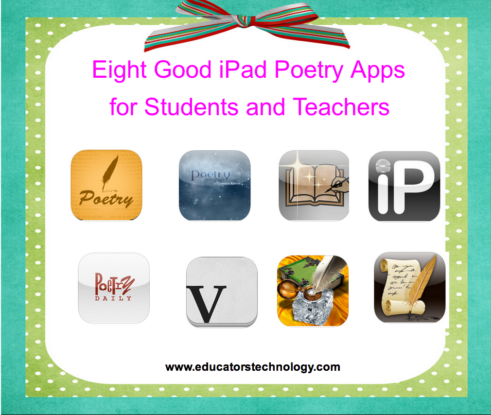 8 Good iPad Poetry Apps for Teachers and Students ~ Educational ...