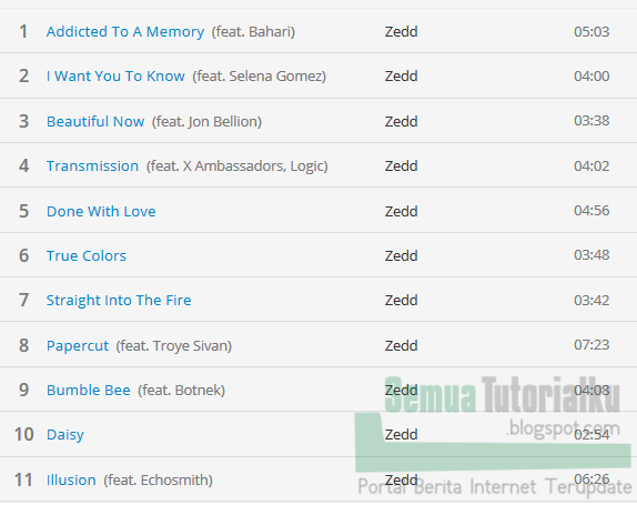 Download Album ZEDD True Colors Full Album