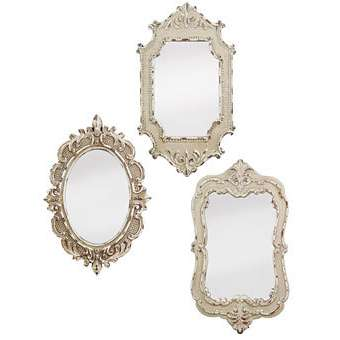 Ruffled bows less is more wedding decor for Decorative mirrors for less