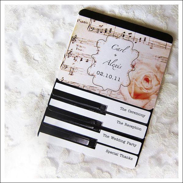 Ideas for a gorgeous music themed wedding lots of love susan heres a great selection of elements that will make a music themed wedding extra special junglespirit Images