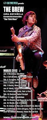Gira por España de The Brew en marzo de 2012