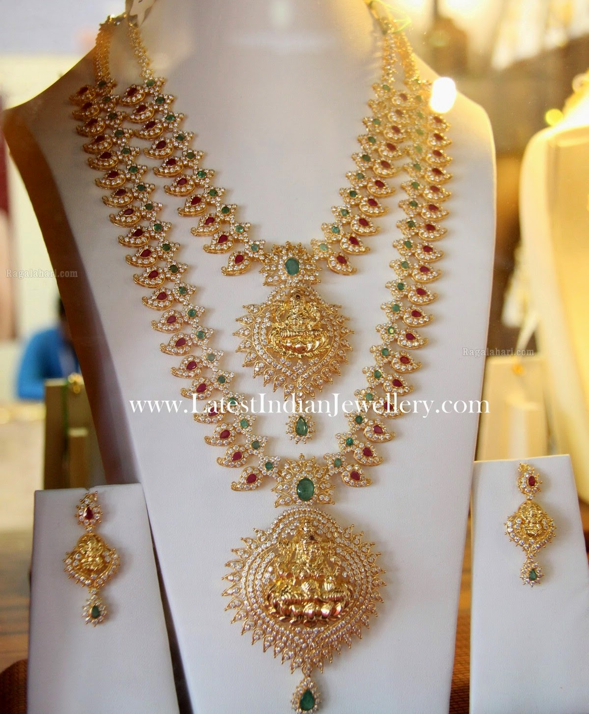 Mango Mala Necklace Haram Set
