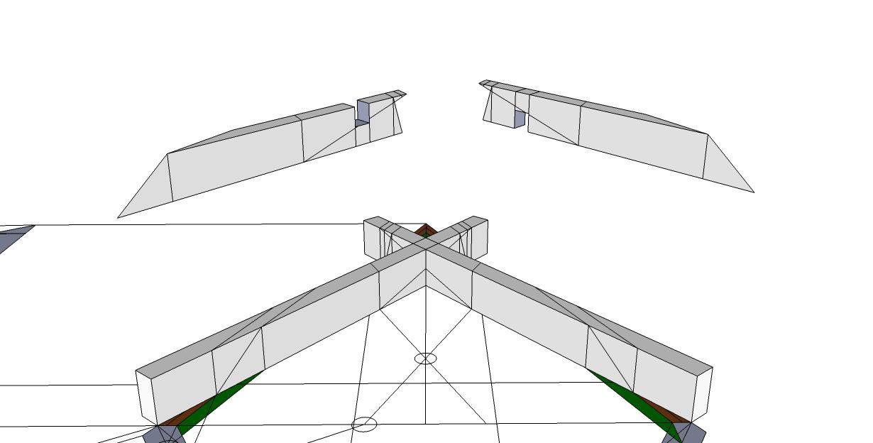 Roof framing geometry november 2013 for Hexagonal roof framing