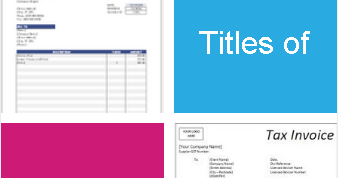 Titles Of Invoices: Commercial Invoice, Tax Invoice, Proforma Invoice |  AdvancedonTrade.com | Export, Import, Customs