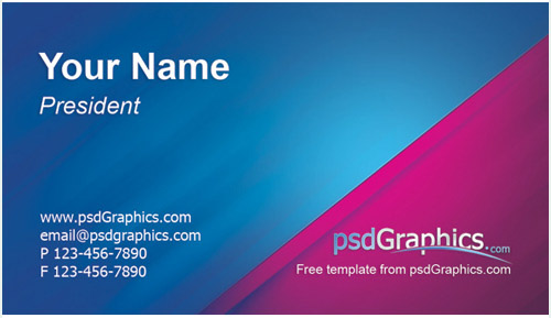 business card design – Name Card Example