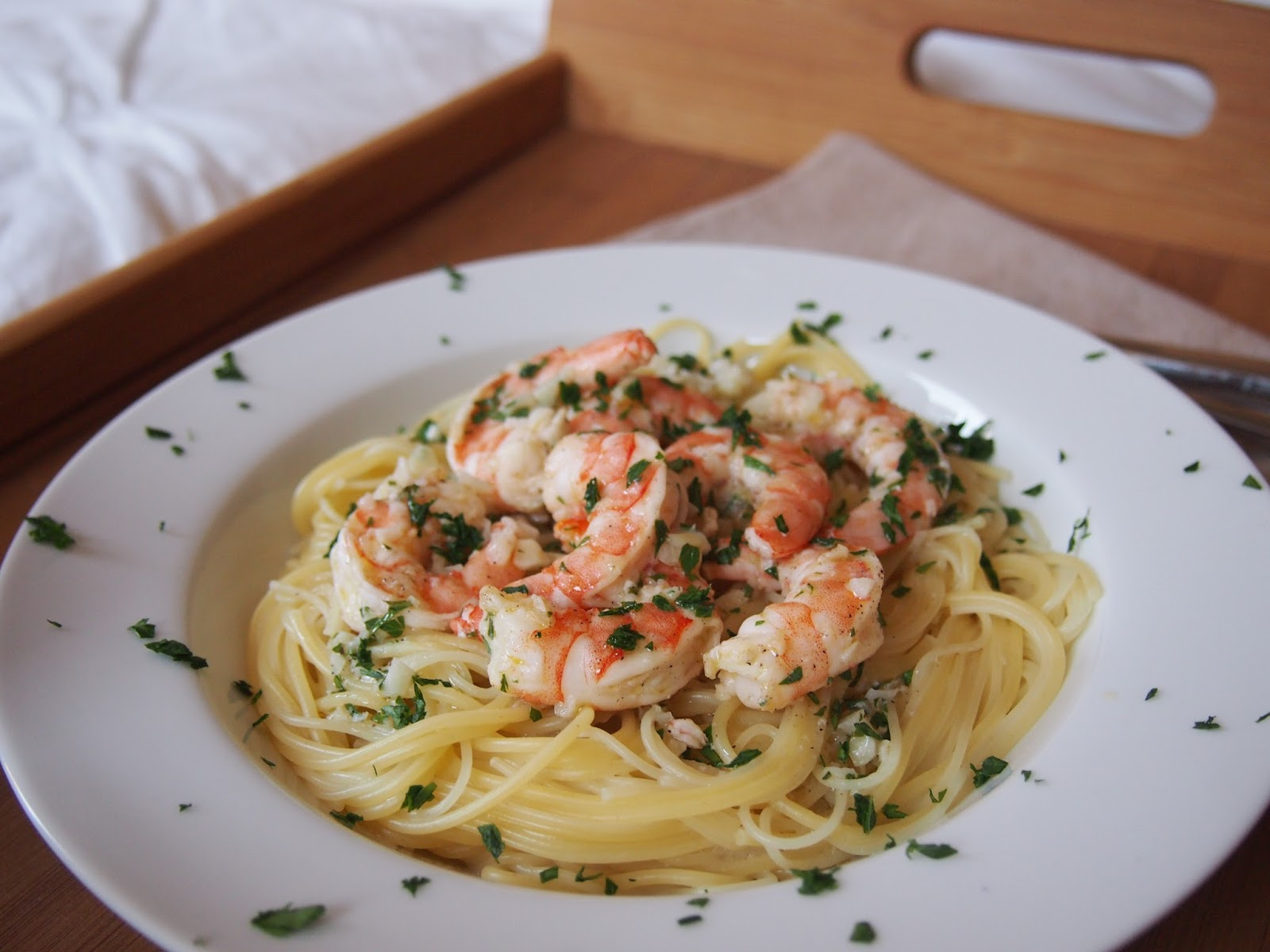 Cooking with Kale: Baked Shrimp Scampi