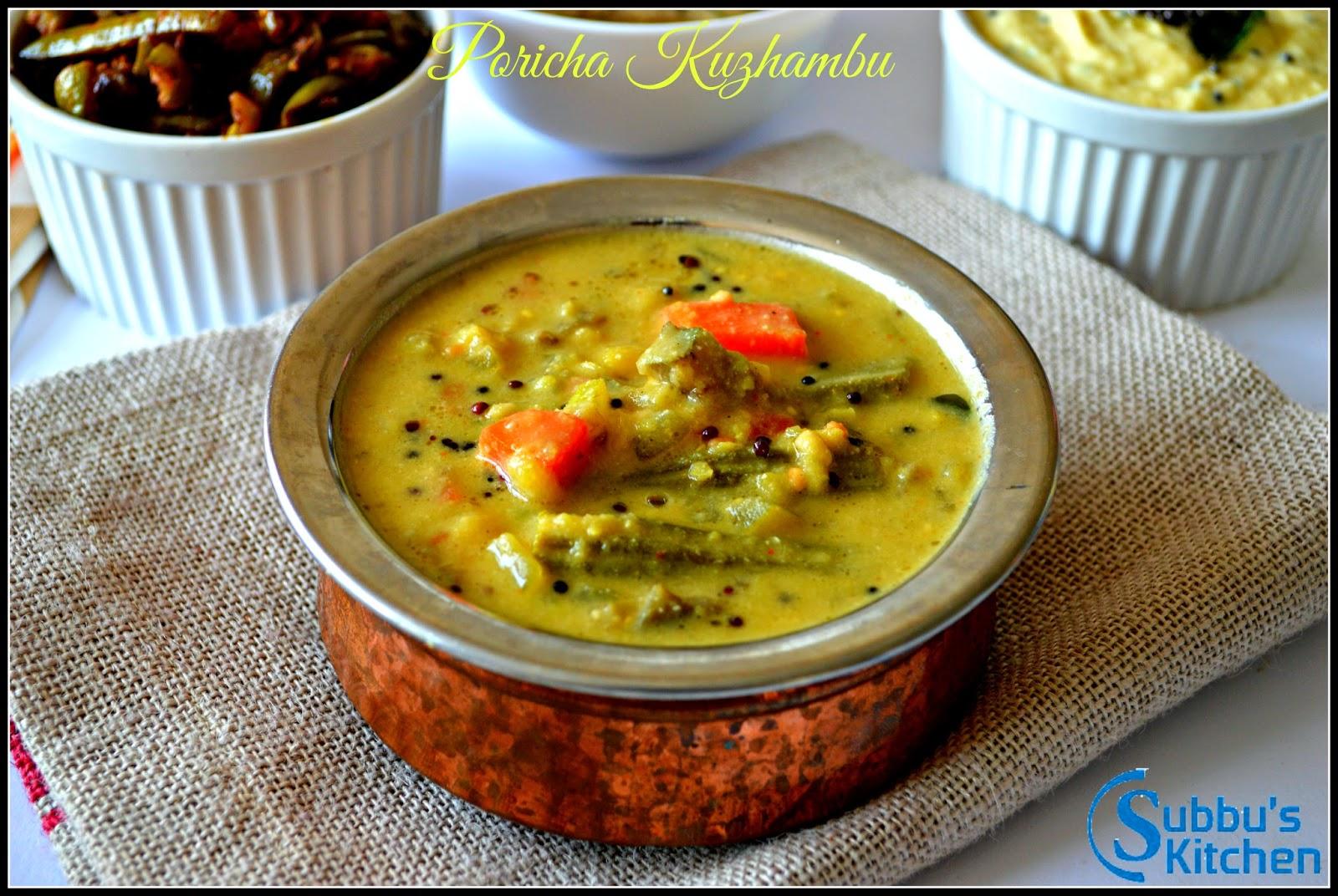 Poritha Kuzhambu / Poricha Kuzhambu