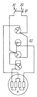 Схема управления электроплитой