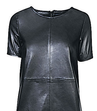 Women Leather T-shirt