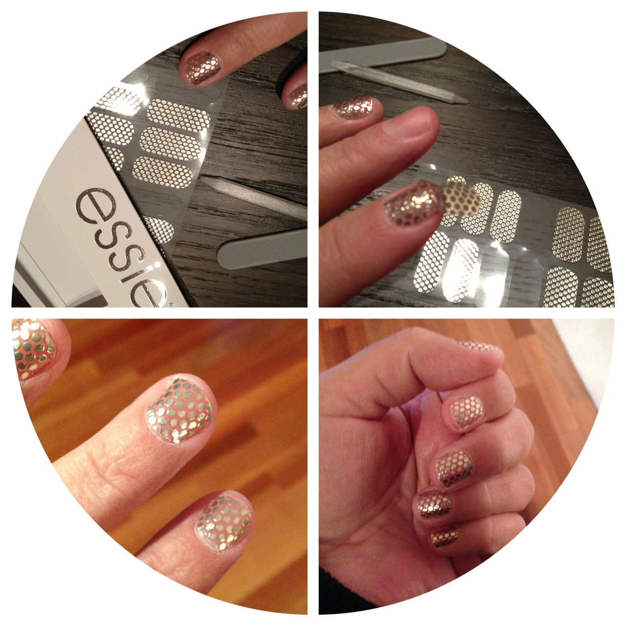Essie Nail Appliques: Viola Pearl: Product Review: Essie Nail Stickers