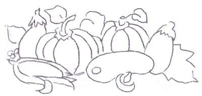 pintura em tecido legumes pano de prato