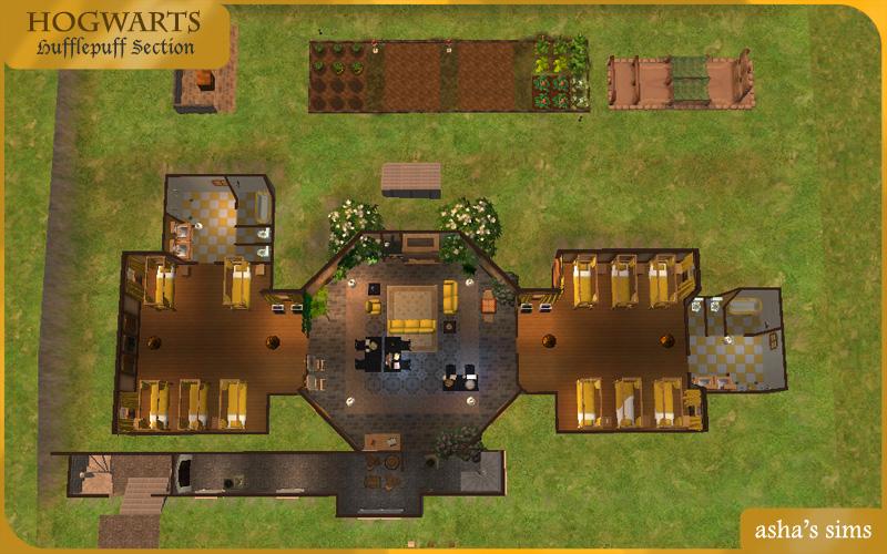 Asha\'s Sims: Hogwarts - Hufflepuff Section