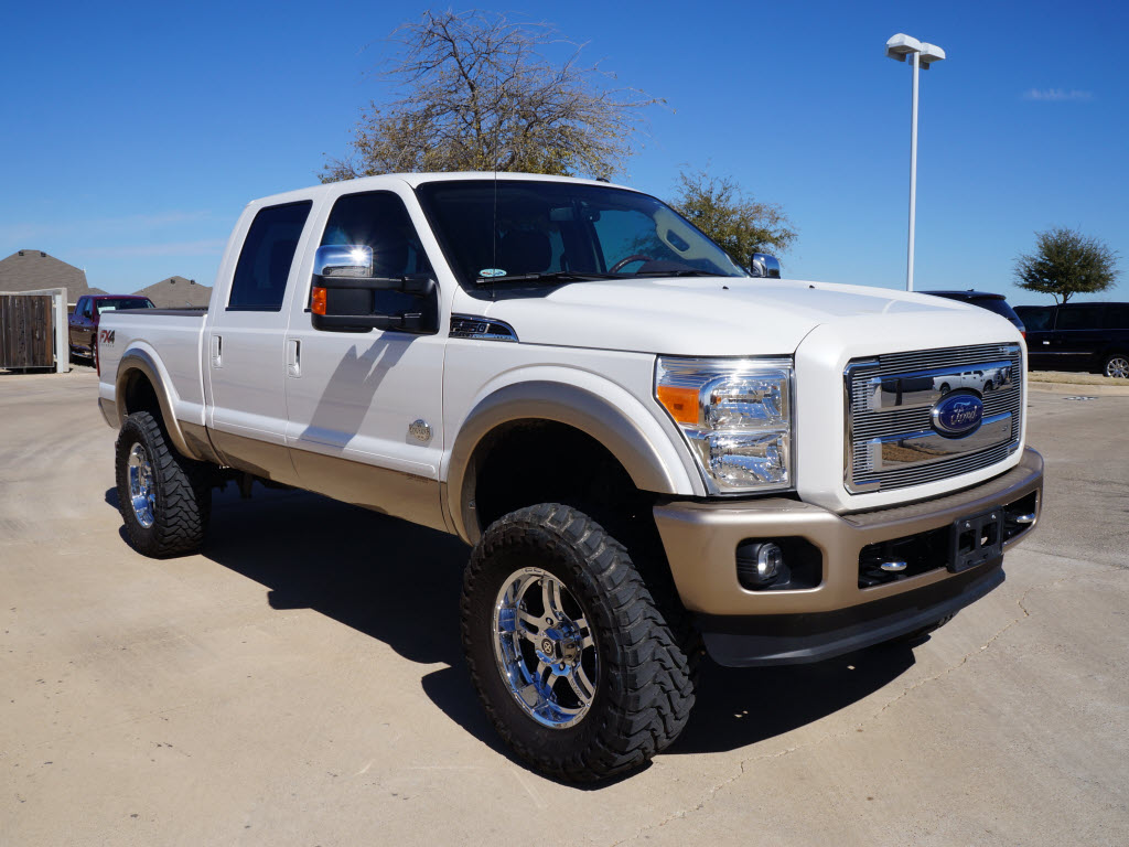Off road ready used 2012 ford f250 6 lifted king ranch loaded 9k miles tdy sales 817 243 9840