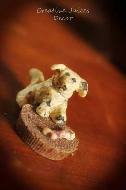 quest oreo cookie dog figureine