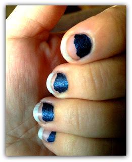 denim effect nails uñas efecto jeans